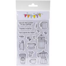 Jane's Doodles Clear Stamp Set - Coffee Time