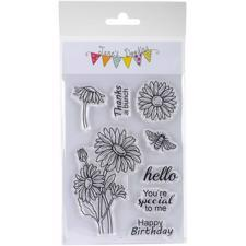 Jane's Doodles Clear Stamp Set - Daisies