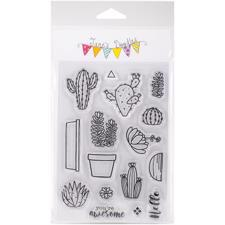 Jane's Doodles Clear Stamp Set - Cactus