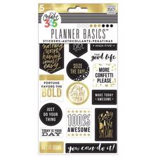 Happy Planner - Create 365 Stickers / Gold - Seize The Day
