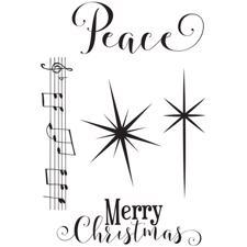 Photo Play Clear Stamp - Luke 2 / Peace