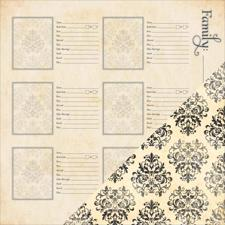 Scrapbook Paper - Heritage / More Family (Bazzill)