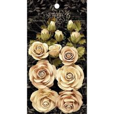 Graphic 45 Flowers - Classic Ivory & Natural Linen
