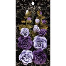 Graphic 45 Flowers - French Lilac & Purple Royalty