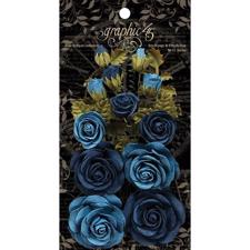 Graphic 45 Flowers - Bon Voyage & French Blue