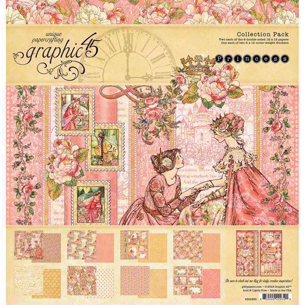 "Graphic 45 Collection Pack 12x12"" - Princess"