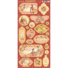 "Graphic 45 Chipboard (6x12"") - Princess"