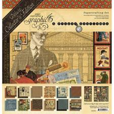 "Graphic45 Paper Pad 12x12"" - DeLuxe Collectors Edition / A Proper Gentleman"