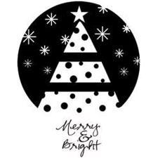 Itty Bitty Cling Stamp - Merry & Bright