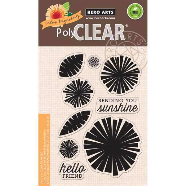 Hero Arts Clear Stamp Set - Graphic Flowers