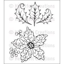 Heartfelt Creation Stamp - Sparkling Poinsettia LARGE