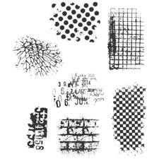Tim Holtz Cling Rubber Stamp Set - Ultimate Grunge
