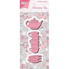 Joy Die - Afternoon Tea / Teapot & Stack of Cups