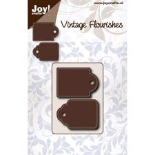 Joy Die - Vintage Flourishes / Stitched Tags