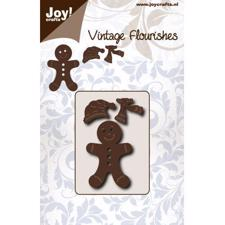 Joy Die - Vintage Flourishes / Gingerbread Man