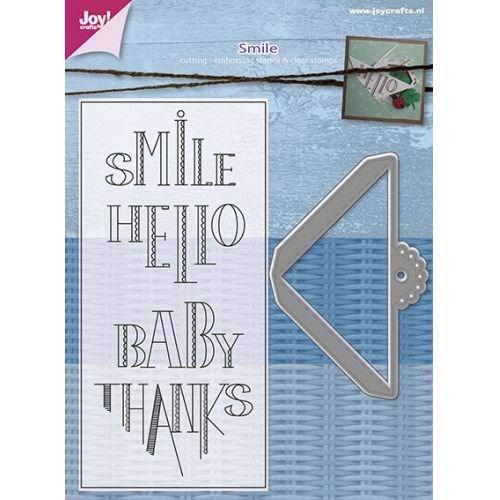 Joy Die - Cut & Stamp / Smile Corner