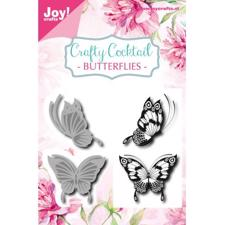 Joy Die - Cut & Stamp / Butterflies