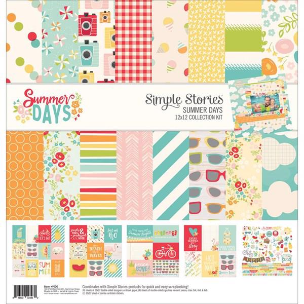 "Paper Pack 12x12"" Collection - Simple Stories / Summer Days"