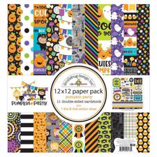 "Doodlebug Design Paper PACK 12x12"" - Pumpkin Party"