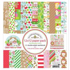 "Doodlebug Design Paper PACK 12x12"" - Christmas Town"