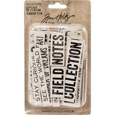 Tim Holtz / Idea-ology - Quote Chips / Words & Phrases