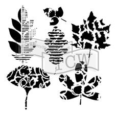 "Crafter's Workshop Template 12x12"" - Leaf Collection"