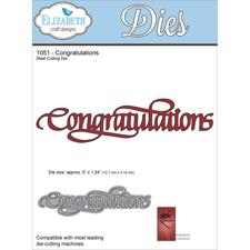 Elizabeth Crafts Die - Quietfire / Congratulations