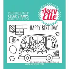Avery Elle Clear Stamp - Birthday Bus