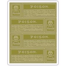 Sizzix Embossing Folder - Tim Holtz / Poison Labels