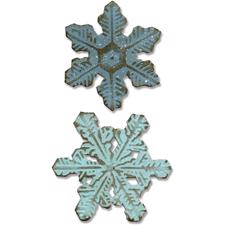 Sizzix Bigz Die & Embossing Folder - Tim Holtz / Snowflakes (small)