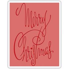Sizzix Embossing Folder - Tim Holtz / Merry Christmas