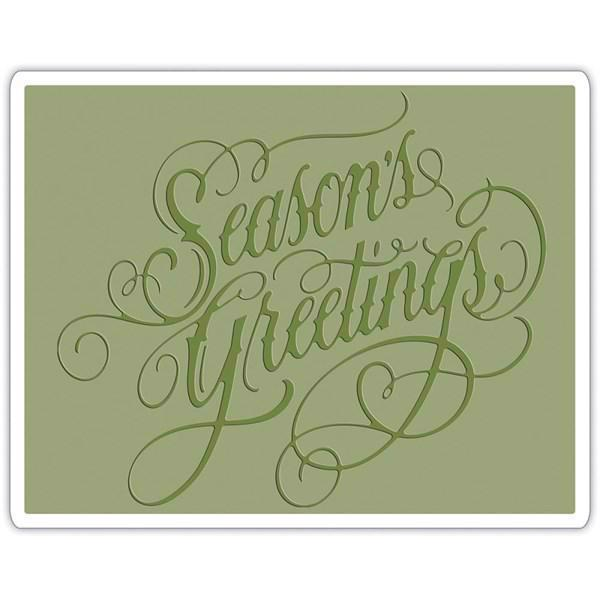 Sizzix Embossing Folder - Tim Holtz / Seasons Greetings