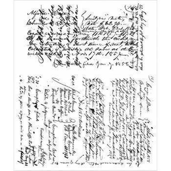 Tim Holtz Cling Rubber Stamp Set - Ledger Script