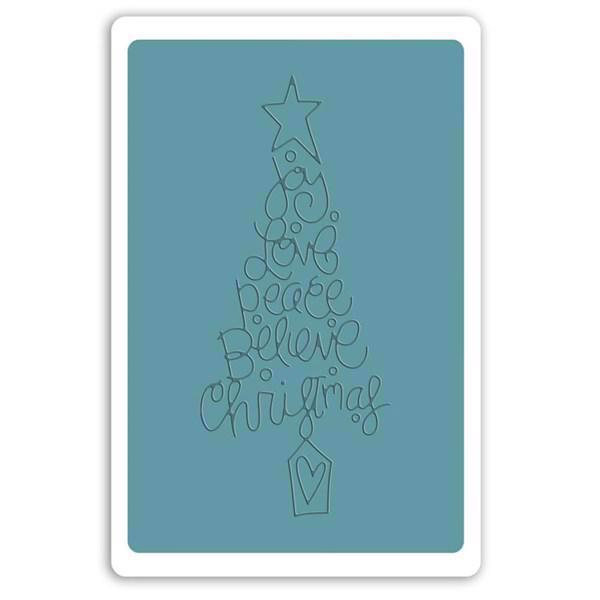 Sizzix Embossing Folder - Christmas Tree (text)