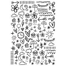 KaiserCraft Embossing Folder - Doodles