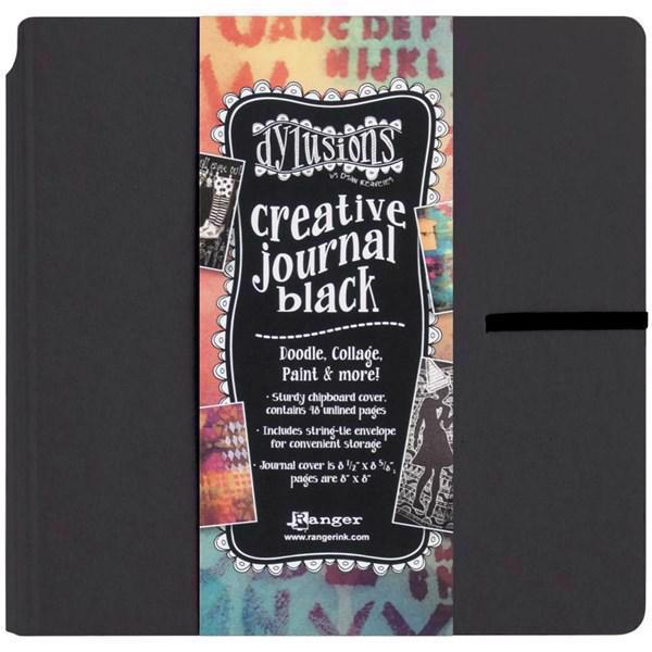 "Dylusion - Creative Journal SQUARE 8x8"" / BLACK"