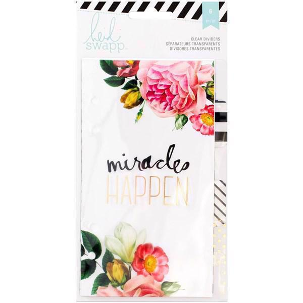 Heidi Swapp Memory Planner - Clear Dividers with Print (til lille planner)