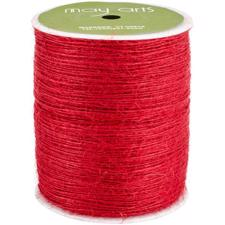 May Arts Burlap String (twine) - Red