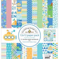 "Doodlebug Design Paper PACK 12x12"" - Anchors Aweigh"