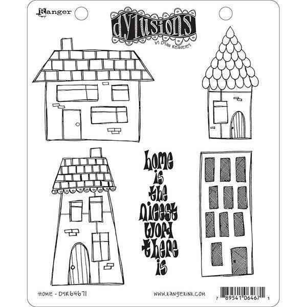Cling Rubber Stamp Set - Dylusions / Home