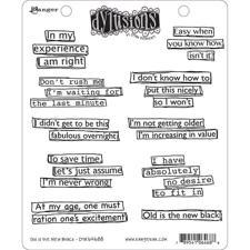 Cling Rubber Stamp Set - Dylusions / Old is the New Black