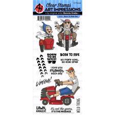Art Impressions Clear Stamp Set - Born to Ride