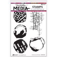 Dina Wakley Cling Rubber Stamp Set - Love Circles