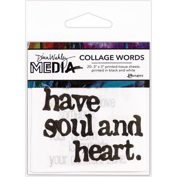 Dina Wakley Media - Collage Word Pack #2 (Soul & Heart)