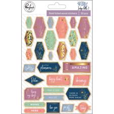 Pinkfresh Studio Indigo Hills 2 - Gold Foiled Stickers
