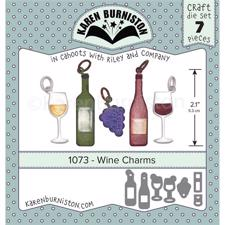 Karen Burniston Die - Wine Charms