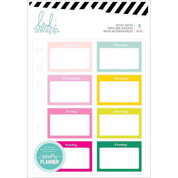 Heidi Swapp Memory Planner - Notes Stickers / Color Fresh