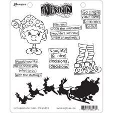 Cling Rubber Stamp Set - Dylusions / Elf Improvement Class