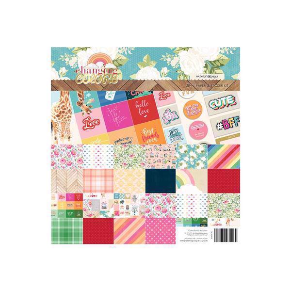 "Webster\'s Pages Paper Kit 12x12"" - Changing Color"