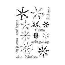 Hero Arts Clear Stamp Set - Stacking Snowflakes